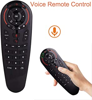 Wireless TV Remote,2.4G Voice Remote Control for Nvidia Shield/TV Box/PC/Smart TVs/IPTV/Projector,33 Key IR Learning Function