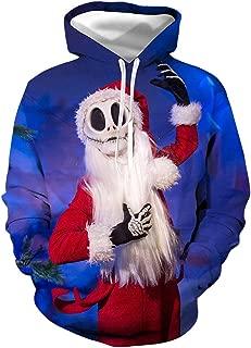 URVIP Unisex 3D Printed Christmas Hoodies Pullover Sweatshirt with Big Pockets