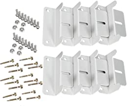 NUZAMAS [Upgraded] 2 Set of Z Brackets Solar Panel Mounting Kits Sets For RV Boat Car Truck Caravan Home Mounted Off Grid ...