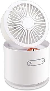 2020年最新 人気 usbファン ィス ファン加湿器 usb扇風機 卓上扇風機 クリップ 充電式 超強風 静音 風量4段階調節 加湿機能付き 360度角度調整 長時間連続使用 LEDライト機能付き ブラック