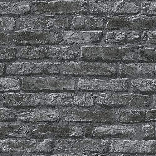 Brick Wallpaper Stone Wallpaper Paper Wallpaper Grey 954701   Wallpaper Online-Shop