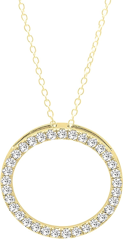 Dazzlingrock Collection Round White Pendan Diamond Ladies 期間限定お試し価格 送料無料 Circle