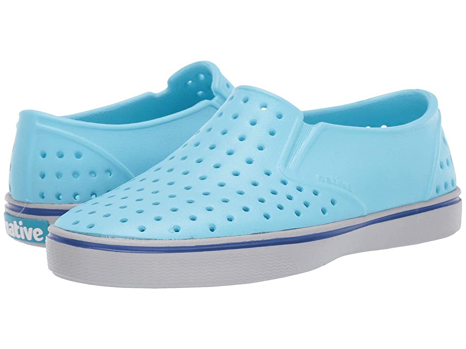 Native Kids Shoes Miles Slip-On (Little Kid/Big Kid) (Hamachi Blue/Mist Grey) Kids Shoes