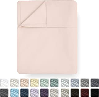 California Design Den Blush Flat Sheet - Queen Size 400 Thread Count Luxury Soft 100% Cotton Sateen Weave Bedding - Best Hotel Quality Cool Top Sheet for Bed, Lightweight and Breathable