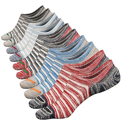 Anliceform Sneaker Socken, Herren tief geschnittene Baumwollsocken unsichtbare Socken Antirutsch-Funktion, aus hochwertiger gekämmter Baumwolle, Farbe 5 5 Paar, 38/43 EU