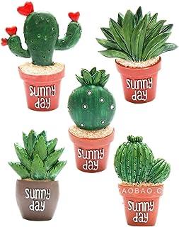 BESTONZON 5pcs aimants de cactus mignon aimant de réfrigérateur aimant de réfrigérateur aimant casier aimants décoratifs a...