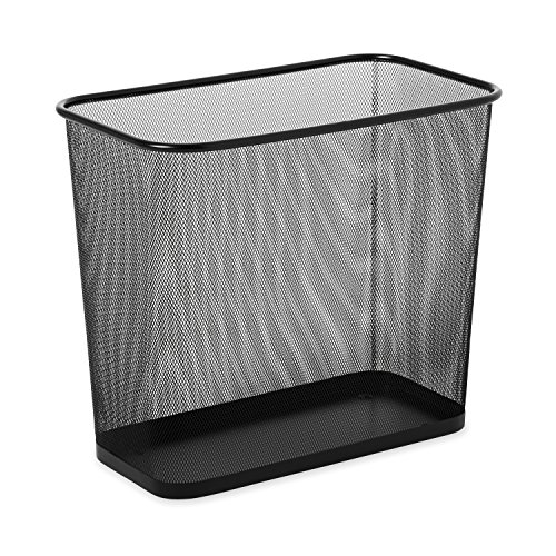Rubbermaid Commercial Products Commercial 7.5 gal Concept Collection Steel Mesh Open Top Waste Basket - Black