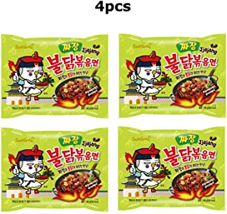 4pcs Samyang Jjajang Buldak Spicy Black Bean Roasted Chicken Ramen Noodle