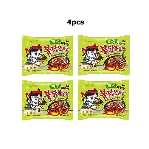 4pcs Samyang Jjajang Buldak Spicy Black Bean Roasted Chicken Ramen Noodle