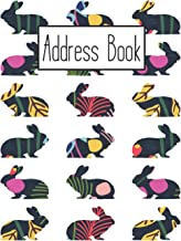 Address Book: Cute Rabbit Addresses Book with Names, Address, Birthday, Phone Number, Work, Email, Social Media and Notes