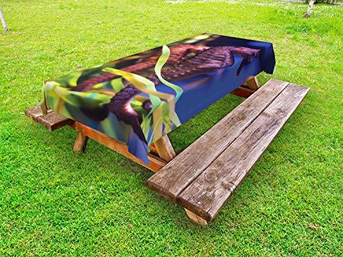 ABAKUHAUS zeepaardje Tafelkleed voor Buitengebruik, Close-up foto met Kelp, Decoratief Wasbaar Tafelkleed voor Picknicktafel, 58 x 104 cm, Veelkleurig