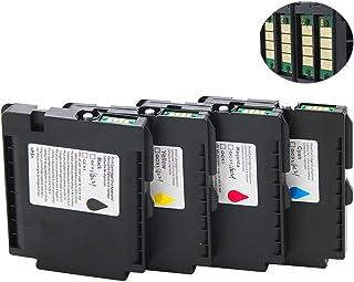 ouguan® 4 x GC41 Cartuchos de Tinta Compatible para Ricoh IPSiO SG ...