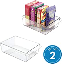 InterDesign 69630M2 Linus Pullz Kitchen Pantry Storage Organizer, Food Container Drawer, Clear, Large, 2Pack