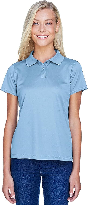 Harriton Ladies' 4 oz. Polytech Polo 2XL Light Blue