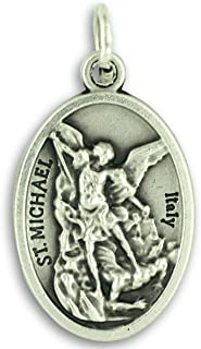 Gifts Catholic, Inc. Bulk Buy 10 Pcs - Guardian Angel/St Michael Archangel 1 inch Pendants Charms with Rings