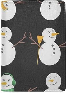Passport Holder Winter Christmas Snowmen Passport Cover Case Wallet Card Storage Organizer for Men Women Kids