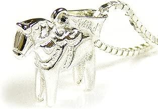 [ダーラナホース] Dalahast ダーラヘスト 馬 シルバー ペンダント ネックレス アニマル 動物 北欧スウェーデン製