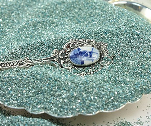 Pale Blue Imported German Glass Glitter - 1 Ounce Jar - Fine 90 Grit (Most Popular Grain Size) Sparkly Glass Glitter - 311-9-295