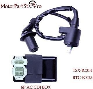 HUDITOOLS | Motorbike Ingition | Ignition Coil 6Pin AC CDI Box for Honda XR CRF TRX 50 70 125 250 300cc Engine Motorcycle Dirt Bike ATV Moped Scooter Go Kart @20 1 PCs