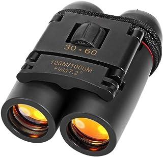 DR Mall Lightweight Pocket 30x60 Roof Prism Binoculars for Adults, HD Professional Binoculars for Bird Watching Travel Sta...