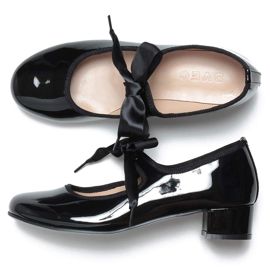 マットレス胚アイデア[シュベック] パンプス バレエシューズ フラットシューズ カンフーシューズ ストラップシューズ ダンスシューズ チャンキーヒール ペタンコ ぺたんこ ラウンドトゥ リボン 走れるパンプス レディース 春 靴 [ ZNX112C ]