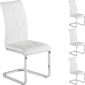 IDIMEX Lot de 4 chaises de Salle à Manger Evelyn piètement