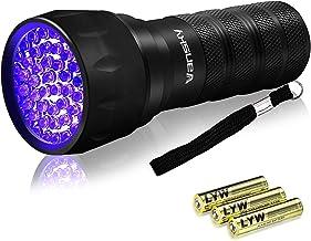 Linterna UV de luz negra, Mini 395 nm 21 LED detector de luz
