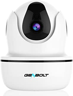 1080P Wireless IP Security Camera - GENBOLT WiFi HD CCTV Pan Tilt Spy Camera Indoor for Home Surveillance, Two Way Audio Motion Detection Remote Webcam, Dog Cam, Baby Monitor