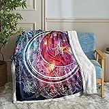 Boho Moon Blanket Moon Star Throw Blanket Mandala Galaxy Moon Printed Sherpa Fleece Blanket Soft Warm Bohemian Bed Blanket for Bedroom Couch Sofa (Throw(50'x60'), Moon)