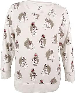 Style & Co. Women's Plus Size Rhinestoned Squirrel Graphic Sweatshirt