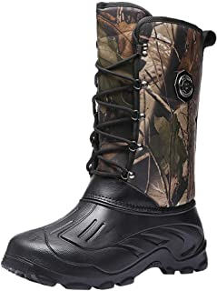 ✦◆HebeTop✦◆ Men's Winter Snow Boots Waterproof, Non-Slip, Safe, Warm and Cold Weather Walking Boots