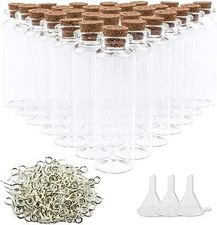Superlady 36pcs 25ml Small Cork Stoppers Mini Glass Bottles Glass Favor Jars