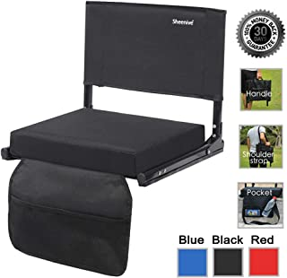 Sheenive Stadium Seats for Bleacher – Wide Padded Cushion Stadium Seats Chairs for..
