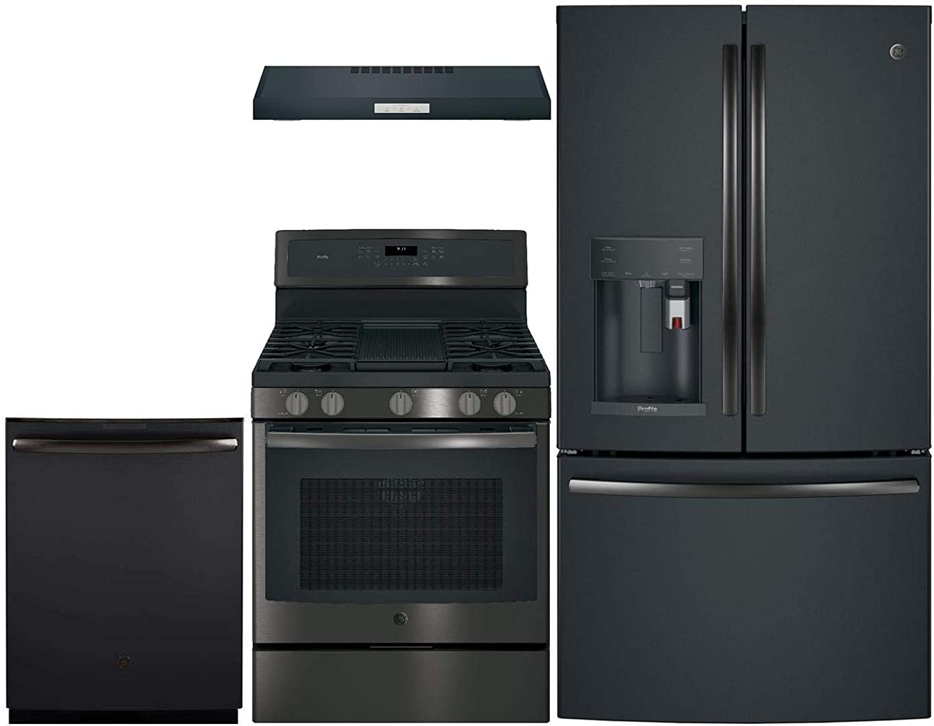 GE Profile 4 Pcs Kitchen Package with PFE28PELDS 36
