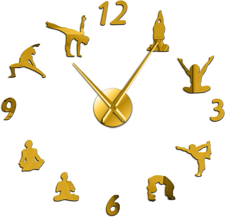 Wall 100% quality warranty! Clock Yoga Large Clocks Effect Living DIY Mirror Ranking TOP17 Room