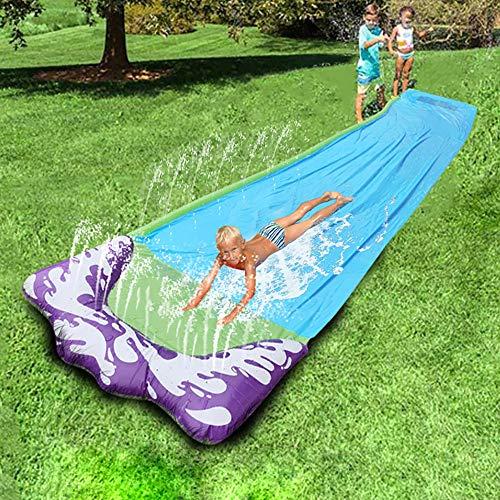 Sanyio Tobogán acuático para niños, tobogán Exterior de césped para Uso Individual, 474 * 72 cm