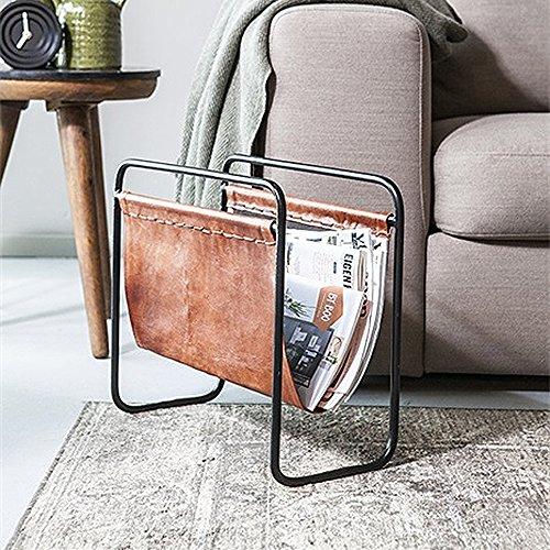 By-Boo Zeitschriftenhalter Toner Leder Zeitungsständer Magazinhalter Magazin Halter (Braun)