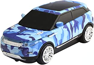 3C Light Car Mouse Wireless, 2.4GHz Cool Sport SUV Car Shape Mouse Camouflage Optical Mice with USB Receiver, 1600 DPI for PC/Computer/Laptop (Blue Camo)