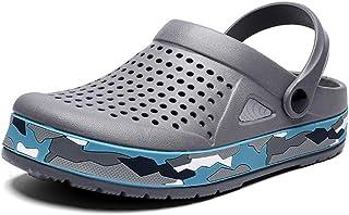 Men's Clogs Lightweight Breathable Mesh Slippers Mules Sandals for Garden,Kitchen,Beach