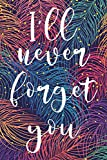 I'll Never Forget You: Password Logbook & Vault Keeper, Username & Website, Colorful Design (Size 6x9, Band 1)
