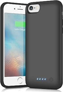 iPhone6/6s/7/8/SE2 対応 バッテリーケース 6000mAh 充電ケース 大容量 バッテリー内蔵ケース iphone8 対応 ケース バッテリー内蔵 急速充電 4.7インチ用 (ブラック)