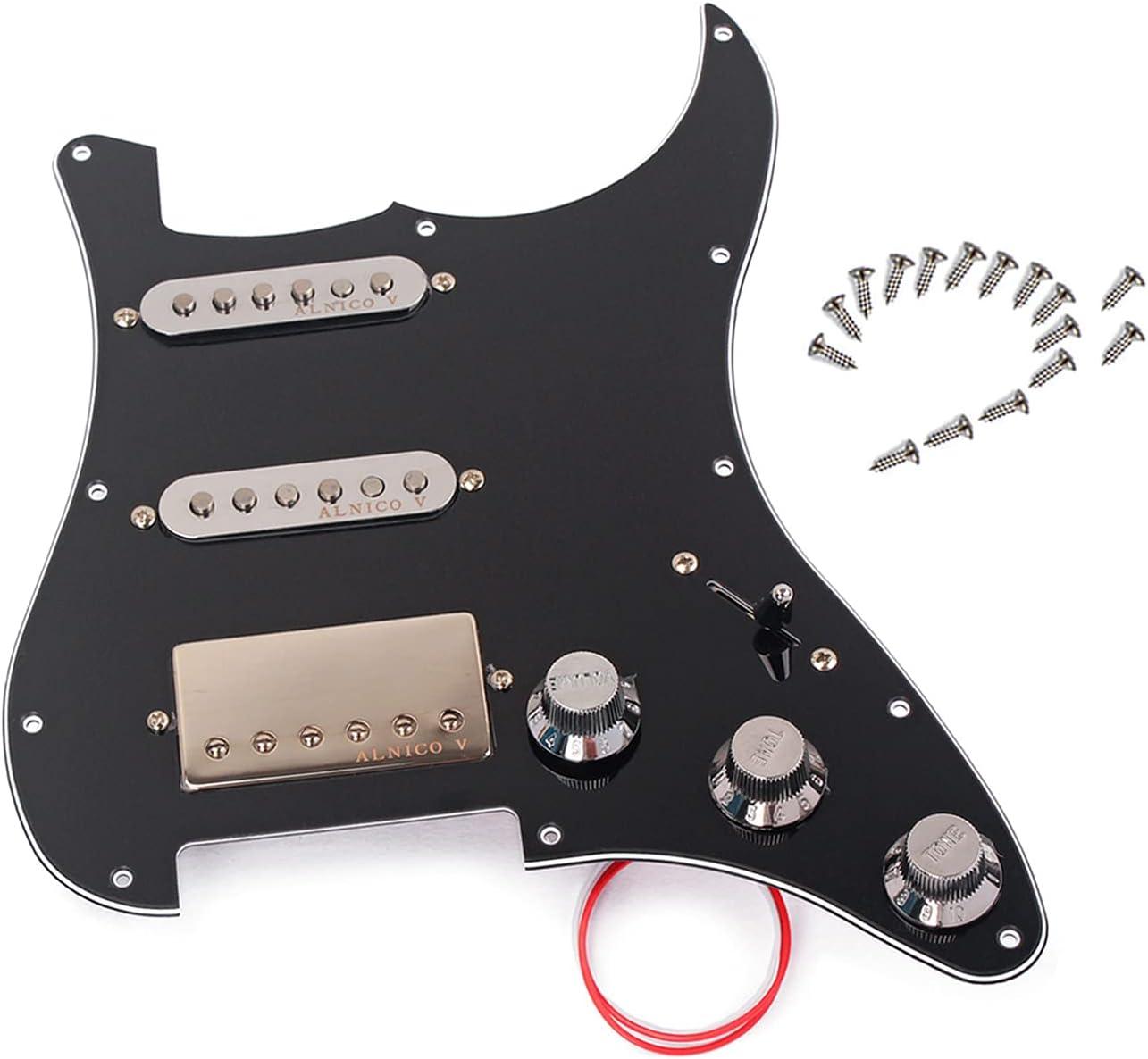 LAMSAM Prewired Strat Pickguard with 3-ply Set SSH 商店 当店限定販売 Pick Pickup