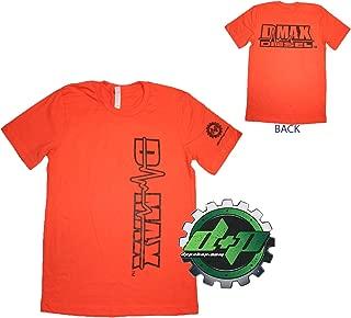 Dmax Chevy Duramax Diesel truckTee Shirt DPP Trucker Gear 4X4 3X Orange