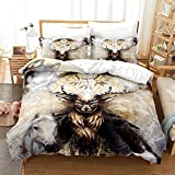 Bedclothes-Blanket Trapunta Matrimoniale Estiva Moderna,Stampa Digitale 3D Tre Set di Lenzuola di pascolo-9_200 * 225.