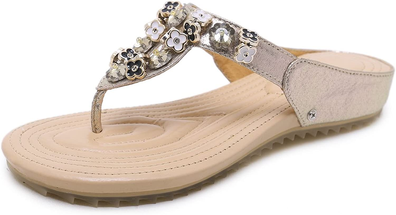 DoraTasia Women's Fashion Summer Bohemian Flip Flop Slipper Girls Beach Low Heel Wedge Sandals shoes