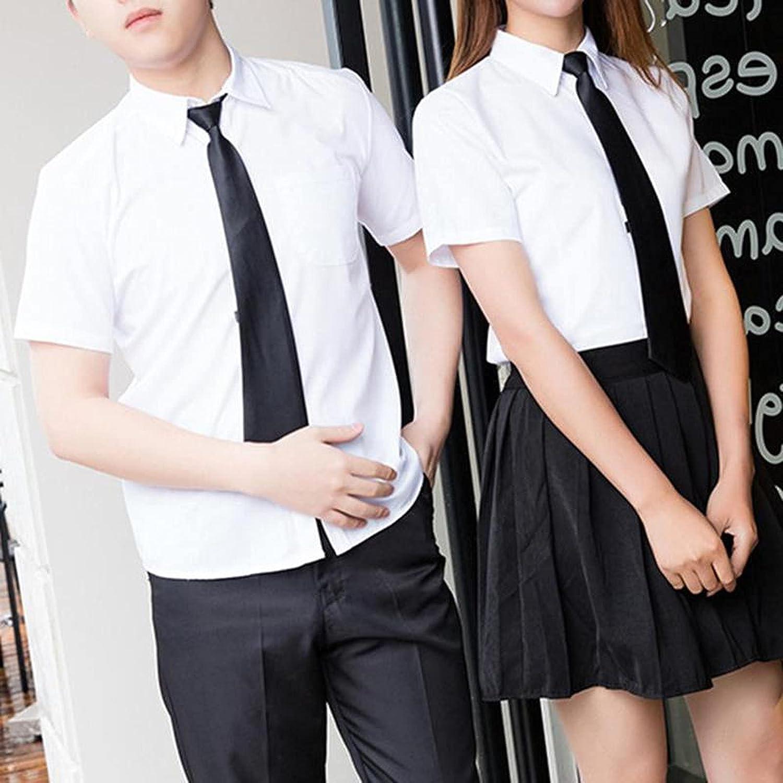 Black Clip Men Tie Security Ties Women Unisex Clothing Necktie Funeral Doorman Steward Matte