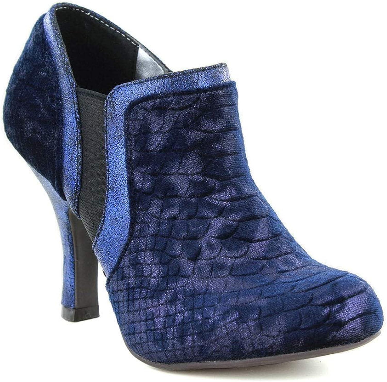 Ruby Shoo Women's Juno bluee High Heel Boot shoes