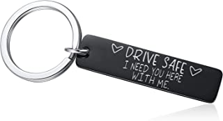 Drive Safe Keychain - I Need You Here With Me Keychain, Gifts for Husband Dad Valentines Day Father's day Birthday Him