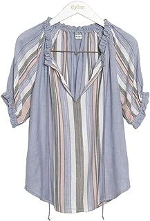 Dylan by True Grit Women's Pacific Stripe Blouse W/Tie