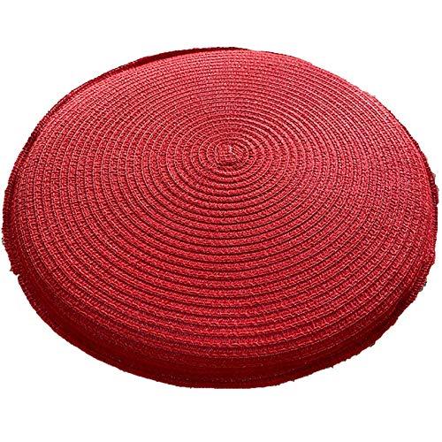 Bove Pouf Seat Cushion Straw Knitted Soft Yoga Mat Meditation Cushion Meditation Pillow For Floor Yoga Seat Pillow-39x39x5cm(15x15x2inch)-A